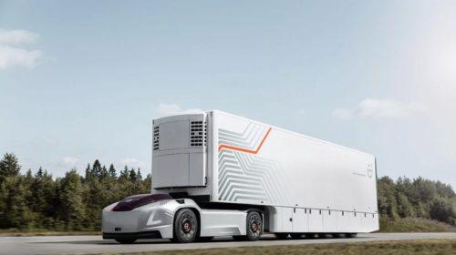 Már a vezetőfülke is hiányzik a Volvo önvezető kamionjából